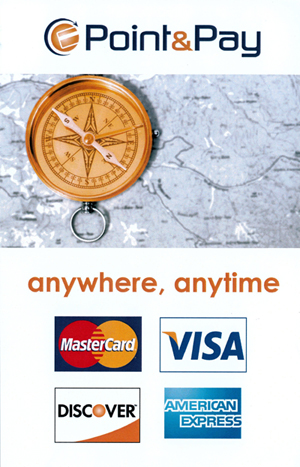 PointAndPay Small, Mastercard Visa Discover American Express