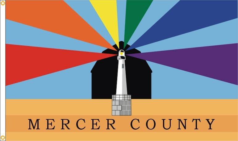 The Official Flag of Mercer County, Ohio