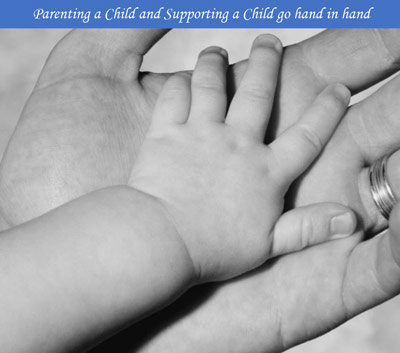 CSEA Logo, Child Support Enforcement Agency, baby hand in an adult hand