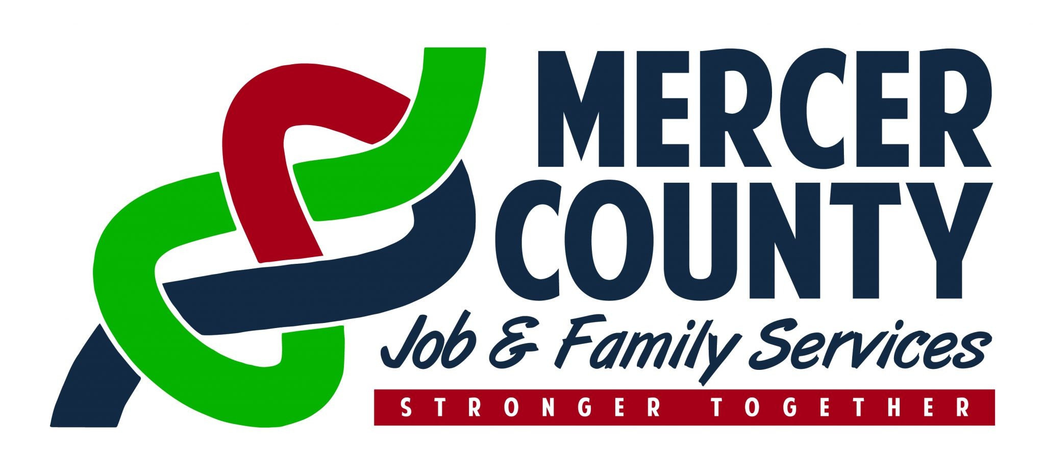 Job & Family Services, logo, stronger together