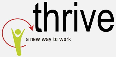 Thrive logo, a new way to work